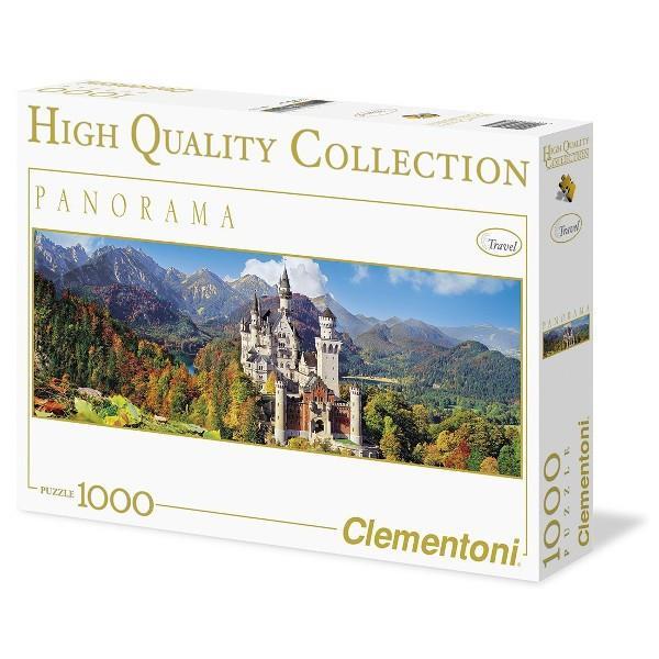 Clementoni 1000 EL. Neuschwanstein, panorama 39283 puzle, puzzle
