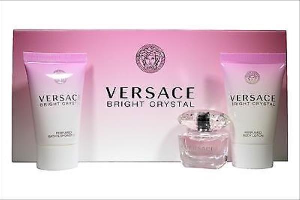 Versace Bright Crystal Edt 5ml + 25ml Body lotion + 25ml Shower gel 5ml Smaržas sievietēm