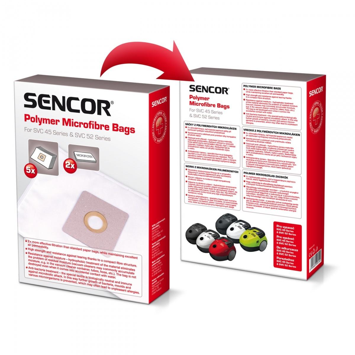 Micro fiber bags for Vacuum Cleaners Sencor SVC 45/52 5pc aksesuārs putekļsūcējam