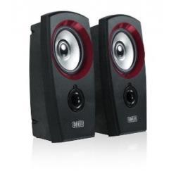 Sweex 2.0 speaker set 20 Watt USB Black/Red datoru skaļruņi
