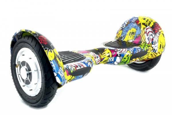 PowerNeed Sunen E-Scooter, graffiti Elektriskie skuteri un līdzsvara dēļi