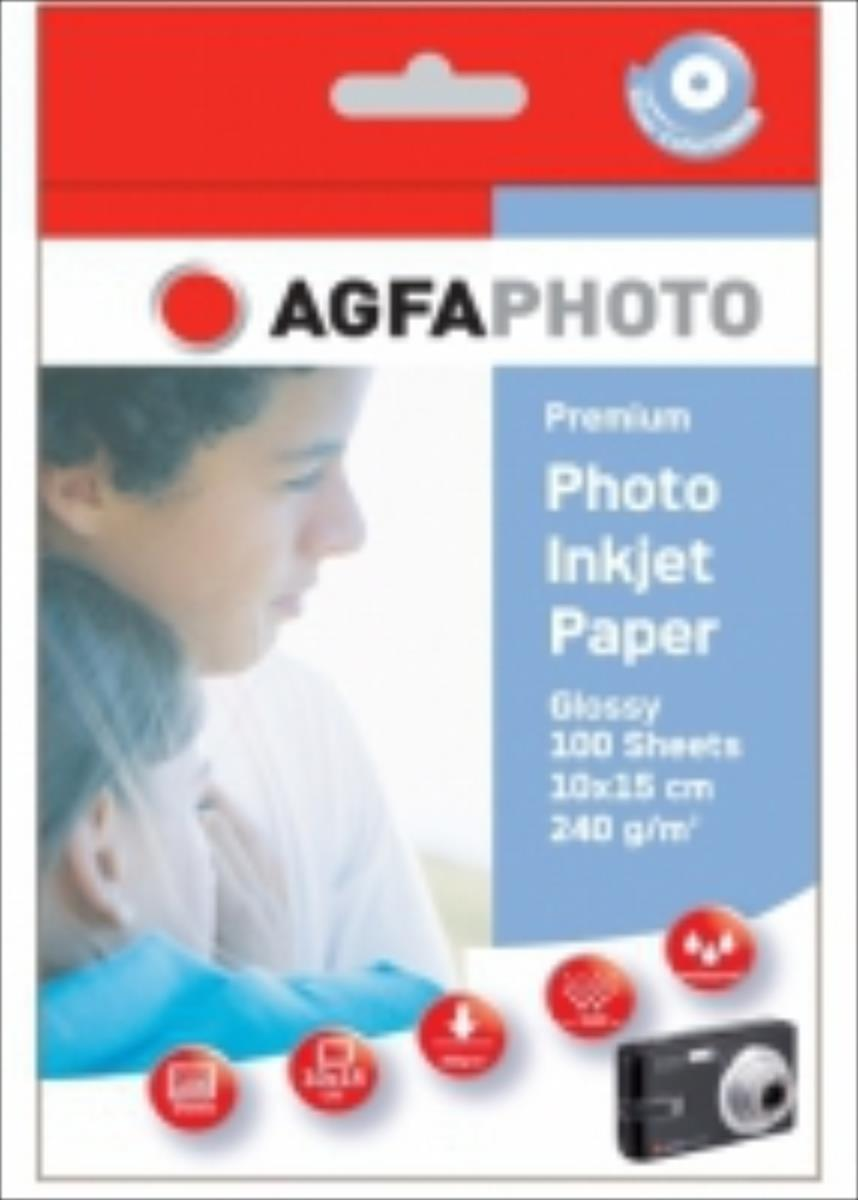 AgfaPhoto Photo Glossy Inkjet Paper 100 sheets 10x15cm C13S041061 AP240100A6 foto papīrs