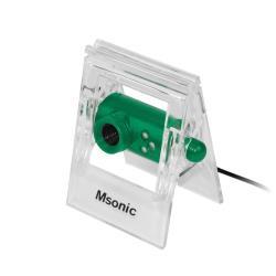 MSONIC Web-camera with microphone USB 2.0, 3 LED's, MR1803E green web kamera