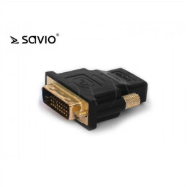 Adapter Video Savio CL-25 DVI - VGA M-F adapteris