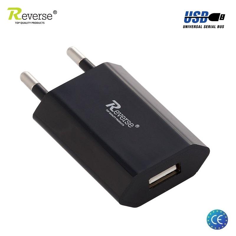 Reverse MT-T301 Universāls 1A 5V USB Ligzdas Tīkla lādētājs priekš Telefona / Mobīlās ierīces (Euro CE) Melns aksesuārs mobilajiem telefoniem