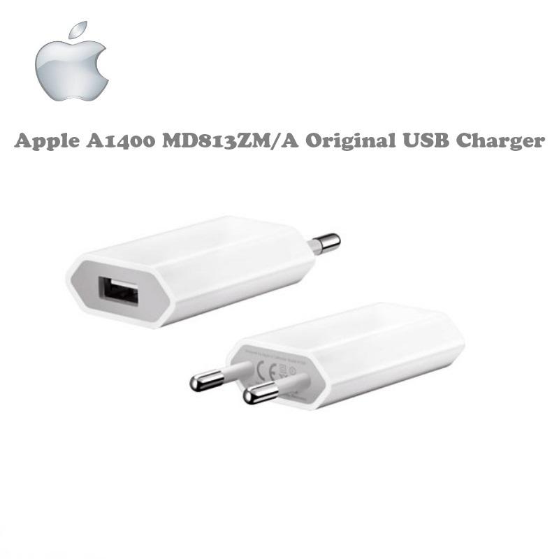 Apple A1400 MD813ZM/A 5W oriģināls Universāls USB Plug Tīkla lādētājs iPhone 4 4S 5 5S 6 Plus Balts (OEM) aksesuārs