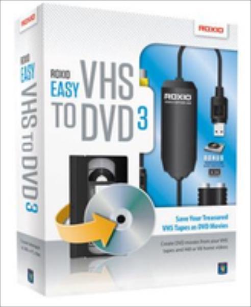 Corel Roxio Easy VHS to DVD 3 programmatūra