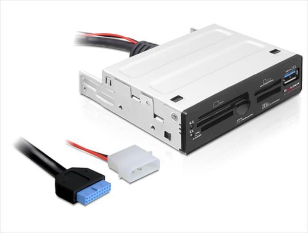 Delock Card Reader USB3.0 -> 65in1 +1x USB3.0 intern karšu lasītājs