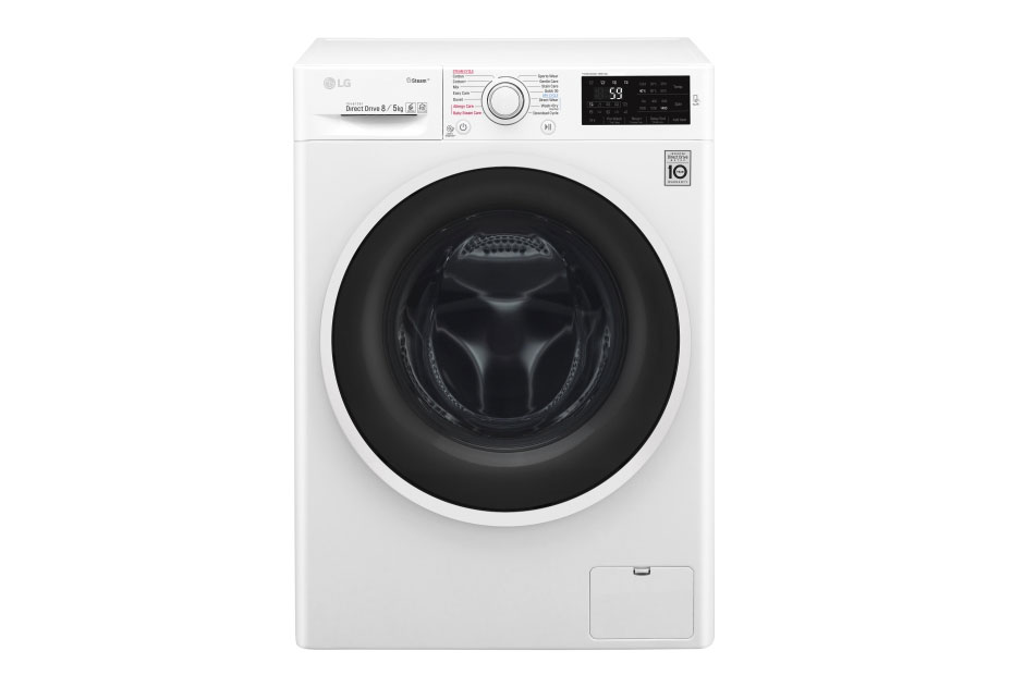 LG with dryer F4J6TG0W Front loading, Washing capacity 8 kg, Drying capacity 5 kg, 1400 RPM, Direct drive, A, Depth 56 cm Veļas mašīna