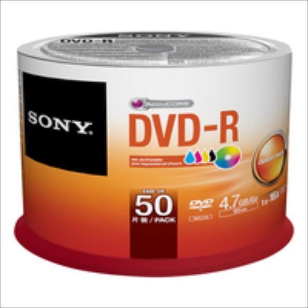 Sony DVD-R 4,7 GB   16x [Cake 50 pcs] INKJET PRINTABLE matricas