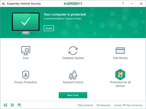 Kaspersky Lab Internet Security 2018 5Benutzer 1Jahr(e) Full license Deutsch ... programmatūra