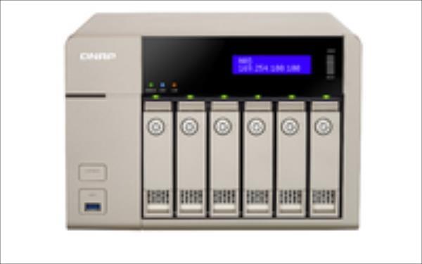 QNAP TVS-663-8G TVS-663-8G 6BAY 2,4GHZ QC 2X GBE 5X USB3.0