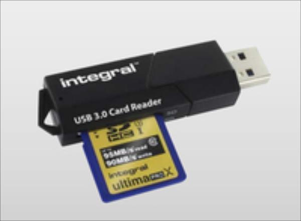 Integral USB 3.0 CARD READER - 3 memory card slots karšu lasītājs