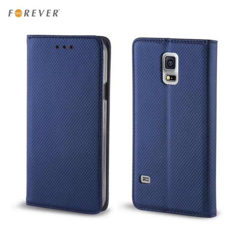 Forever Magnēstikas fiksācijas sāniski atverams maks bez klipša Samsung G950 Galaxy S8 Tumši Zils aksesuārs mobilajiem telefoniem