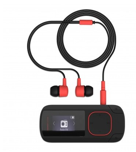 Energy Sistem 426492 MP3 Clip Bluetooth Coral (8 GB, Clip, FM Radio and microSD) MP3 atskaņotājs