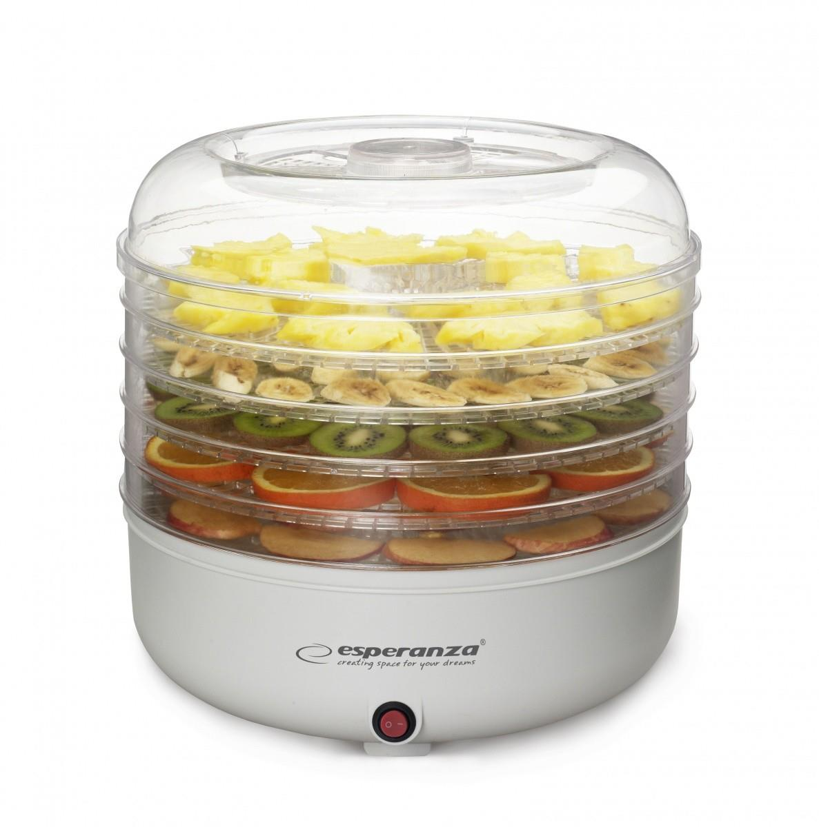 Esperanza EKD001 FOOD DEHYDRATOR FOR MUSHROOMS, FRUITS, VEGETABLES, HERBS Augļu žāvētājs