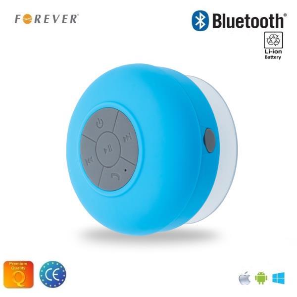 Forever BS-330 Bluetooth Ūdens izturīgs Bezvadu Skaļrunis ar lipekli un Telefona Zvana Funkciju Zila pārnēsājamais skaļrunis