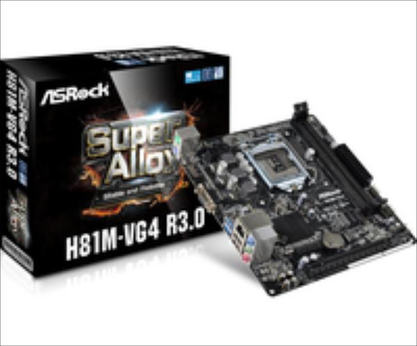ASRock H81M-VG4 R3.0, H81, DualDDR3-1600, SATA3, D-Sub, mATX pamatplate, mātesplate