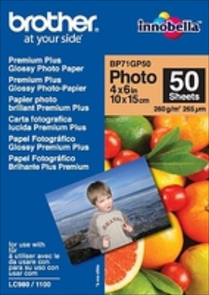 Paper Brother 50 sheets glossy 6''x4'' foto papīrs