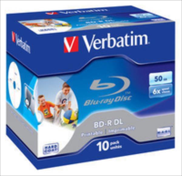 BluRay BD-R DL Verbatim [ jewel case 10 | 50GB | 6x| printable ] matricas