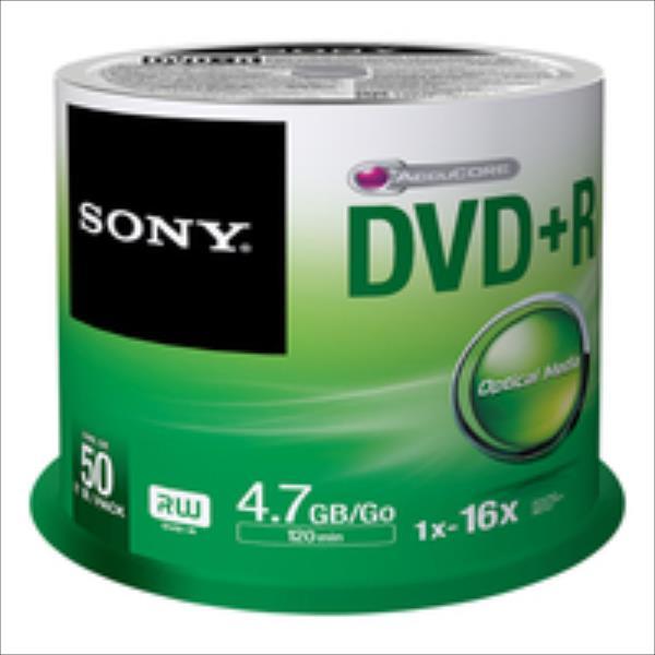 Sony DVD+R 4,7 GB   16x [cake 50 pcs] matricas