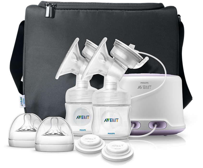 AVENT Dubultais elektriskais krūts pumpis Natural SCF334/02 bērnu krūts barošanai
