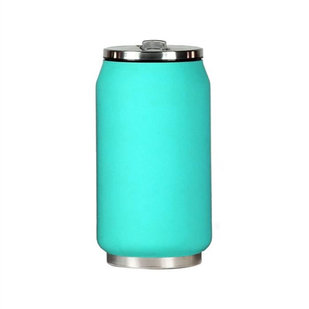 Yoko Design Isotherm Tin Can 280 ml, Soft touch turquoise termoss