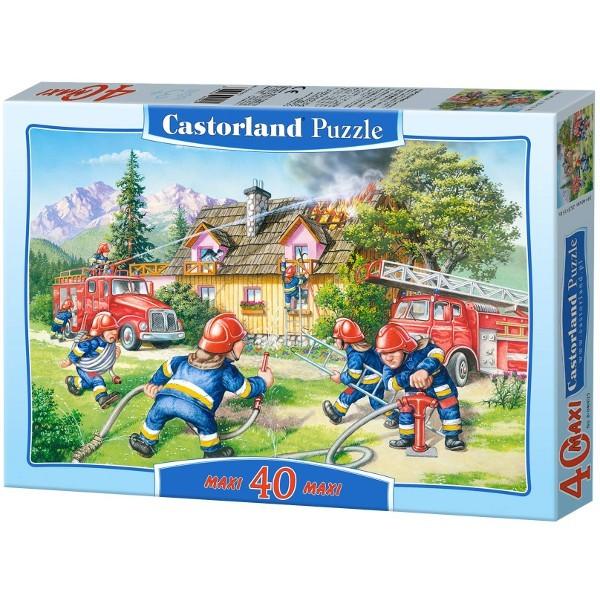 Castor CASTOR 40 EL. MAXI Fire Brigade - 040025 puzle, puzzle