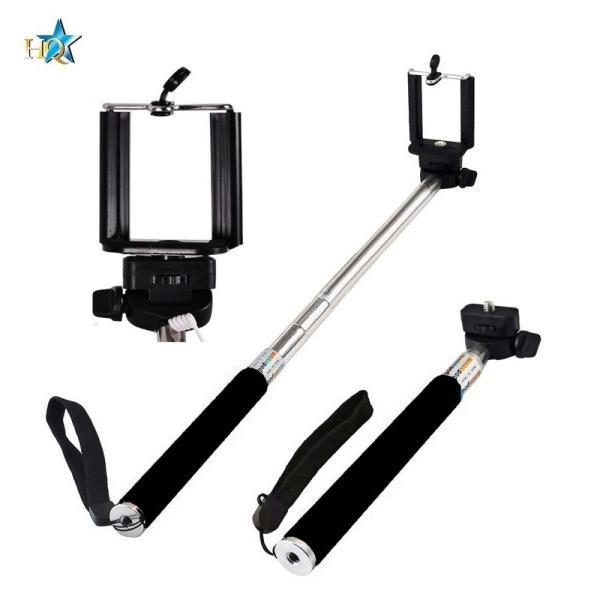 HQ Z07-Is Selfie Stick 100cm - Univers la stiprinājuma statīvs ar iebūvētu Pulti Selfy Stick