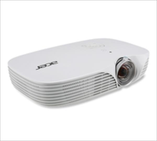 Acer K138ST WXGA/16:10/1280x800/800Lm/100000:1/Manual Focus/Lamp 20000-30000/VGA,HDMI/1.3kg/Speaker 2x3W/White/Bag/EU Power EMEA projektors