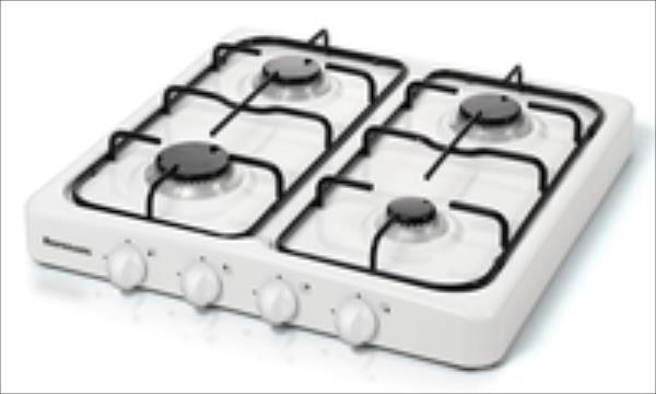 Ravanson Cooker  K-04T (Gas cooktop; 4 fields) plīts virsma