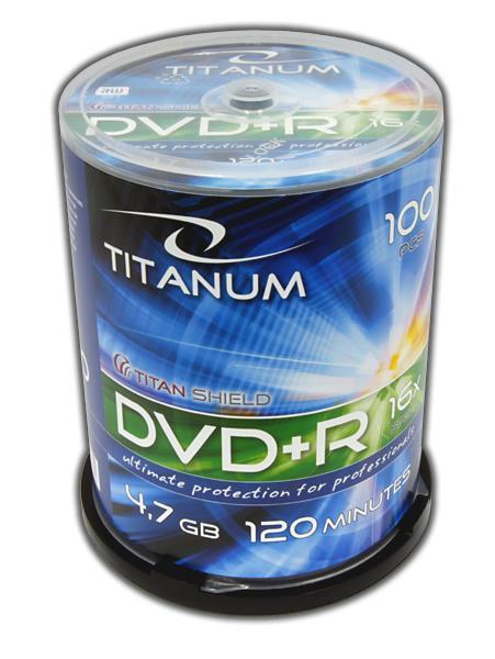 DVD+R TITANUM [ Cake Box 100 | 4,7GB | 16x ] matricas