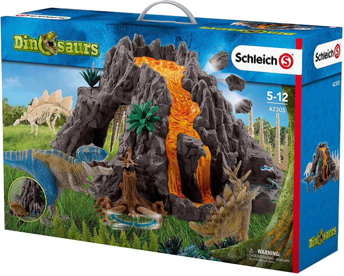 Schleich Dinosaurs - Playsets - Giant Volcano with T-Rex (42305) bērnu rotaļlieta