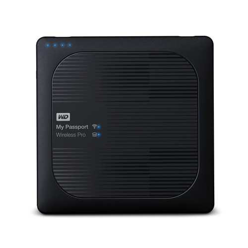WD My Passport Wireless Pro 2.5'' 1TB WiFi Black Ārējais cietais disks