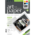 ColorWay ART Photo Paper T-shirt transfer (dark), A4, 120 g/m2, 5 sheets foto papīrs