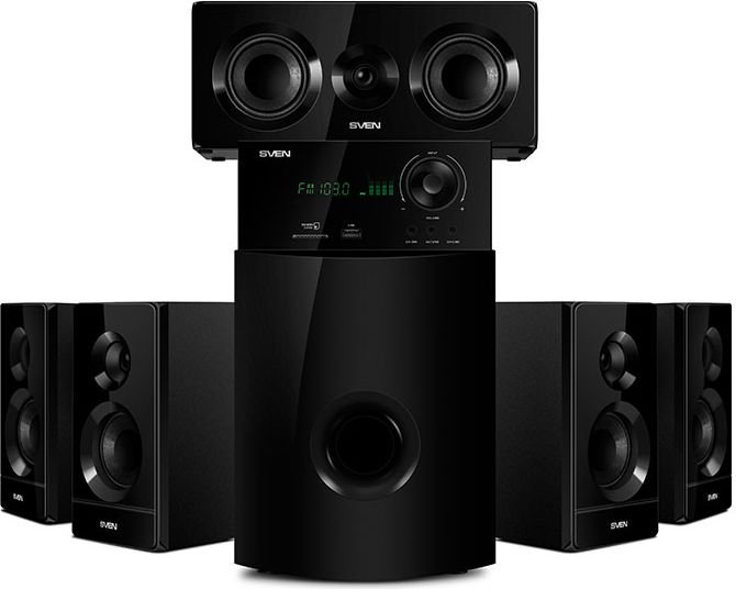 SVEN HT-210, black (125W, Bluetooth, Optical, Coaxial, FM, USB/SD, Display, RC unit) datoru skaļruņi