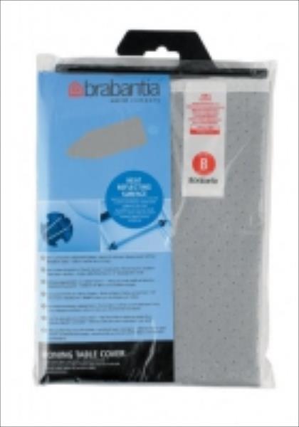 BRABANTIA gludinām dēļa pārvalks, 124x38 cm, Metalized (B) 2mm 317705 gludināmais dēlis, veļas žāvētājs