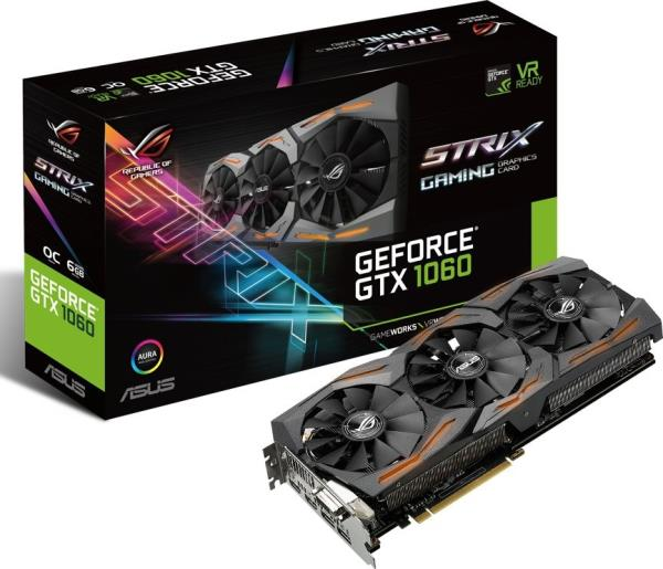 ASUS GeForce GTX 1060, 6GB GDDR5 (192 Bit), 2xHDMI, DVI, 2xDP video karte