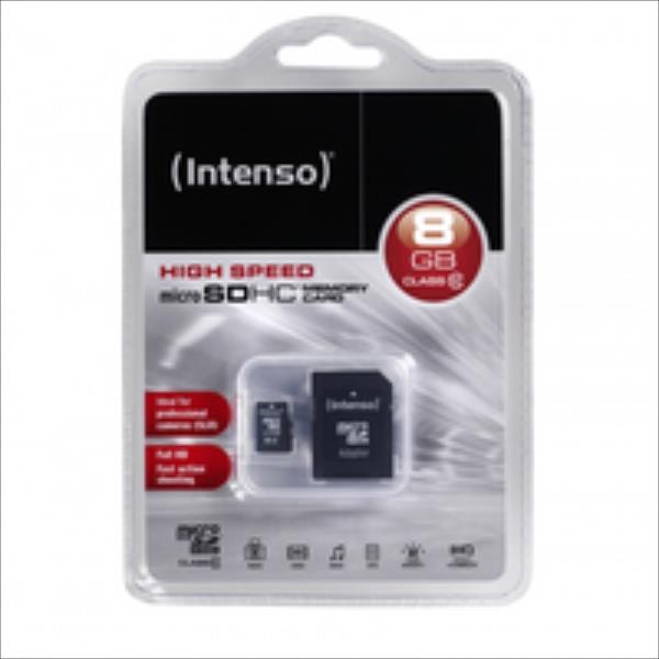 Intenso micro SD 8GB SDHC card class 10 atmiņas karte
