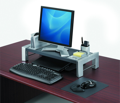 3M Adjustable Monitor Stand Black/Silver, 6,5-15x38x35 cm