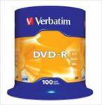 Verbatim DVD-R 4.7GB 16X 100pack AZO MATT SILVER cake box - matricas