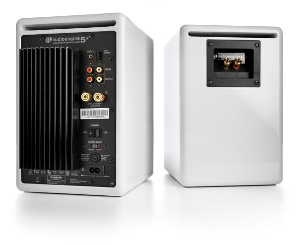 Audioengine Powered Bookshelf Speakers A5+ Hi-Gloss White (Pair) A5+W datoru skaļruņi