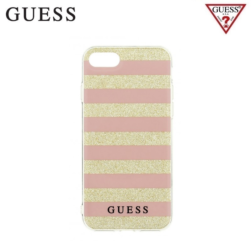 Guess GUHCP7STGPI hardca se iPhone 7 pink/gold