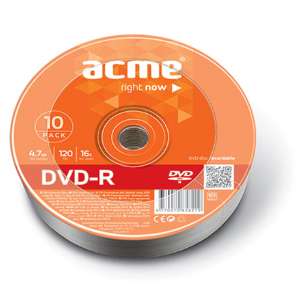 ACME DVD-R 4.7GB 16X 10pack shrink matricas