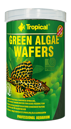 Tropical Green Algae Wafers 250ml zivju barība