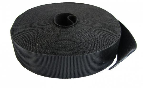 Velcro Tape 19 mm wide 10  roll color black aksesuārs datorkorpusiem