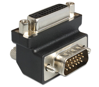 Delock Adapter DVI 24+5 pin female > VGA 15 pin male 90  angled karte