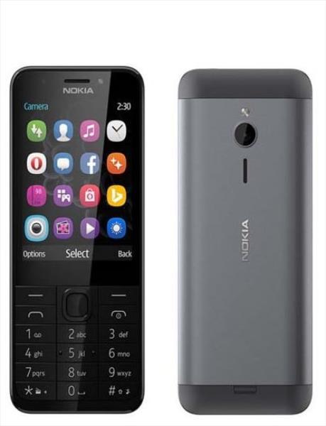 NOKIA  230 DS Black Mobilais Telefons