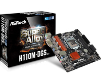 ASRock H110M-DGS, H110 R3.0, DualDDR4-2133, SATA3, DVI, pamatplate, mātesplate