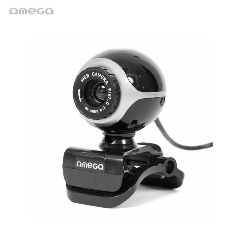 Omega OUW10SB 12MPix Web Kamera ar Mikrofonu USB 2.0 Melna web kamera
